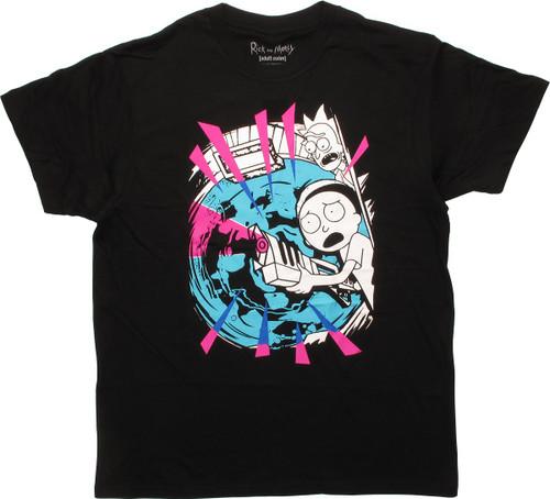 Rick and Morty Portal Shoot T-Shirt