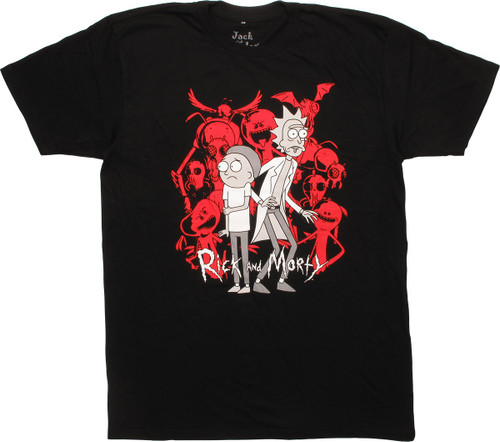 Rick and Morty Red Monsters T-Shirt