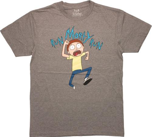 Rick and Morty Run Morty T-Shirt Sheer