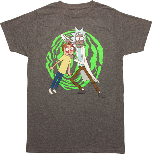 Rick and Morty Spiral Hold T-Shirt Sheer