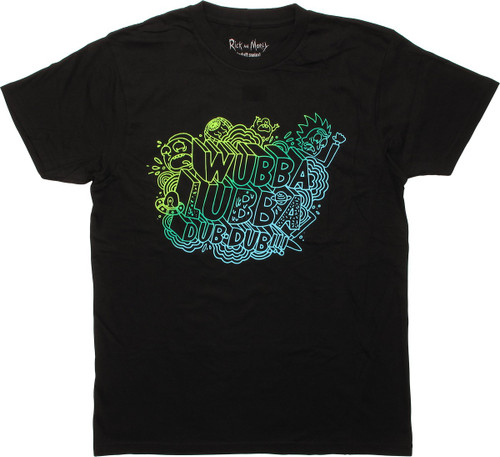 Rick and Morty Wubba Lubba Dub-Dub T-Shirt