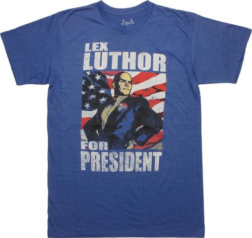 Superman Lex Luthor For President T-Shirt Sheer