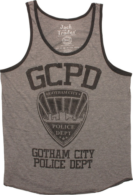 Batman Gotham City Police Dept Ringer Tank Top