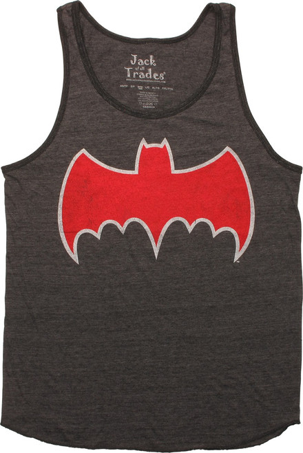 Batman Batmobile Logo Ringer Tank Top