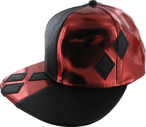 Harley Quinn Shiny Snapback Hat