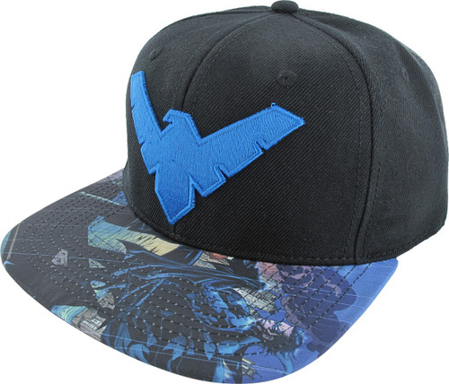 Nightwing Logo Patch Sublimated Snapback Hat