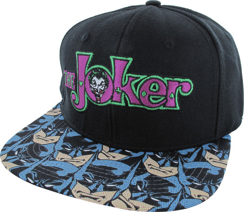 Batman Faces Joker Name Snapback Hat