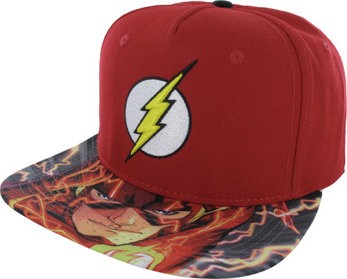 Flash Logo Sublimated Snapback Hat