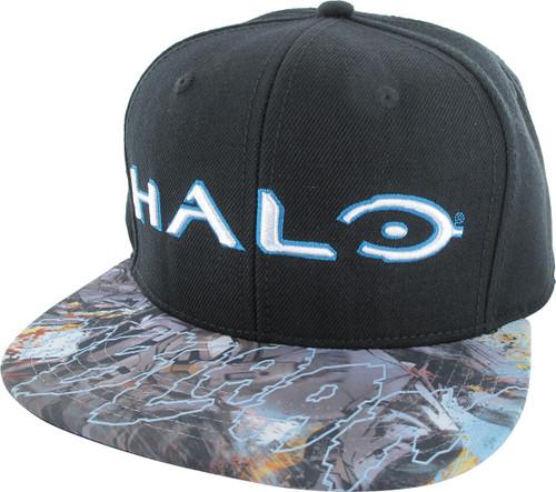 Halo Logo Sublimated Visor Snapback Hat