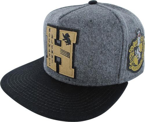 Harry Potter Hufflepuff Alumni Felt Snapback Hat hat-harry-potter -huffle-alumni-snap c2e9dced6ca1