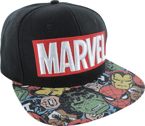Marvel Sublimated Faces Snapback Hat