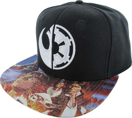in stock b9f76 ee522 Star Wars Split Sides Sublimated Snapback Hat hat-star-wars -side-split-sub-snap