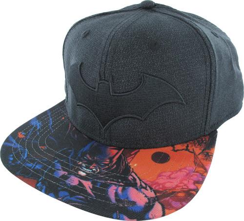 Batman Black Embroidered Logo Snapback Hat