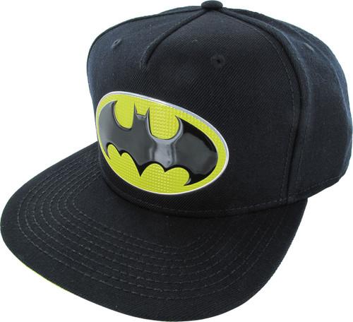 Batman Chrome Weld Logo Snapback Hat