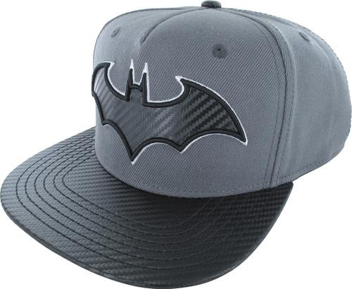 Batman Logo Carbon Fiber Snapback Hat