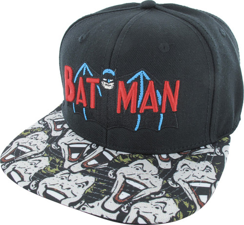 Batman TV Series Logo Joker Face Sublimated Hat