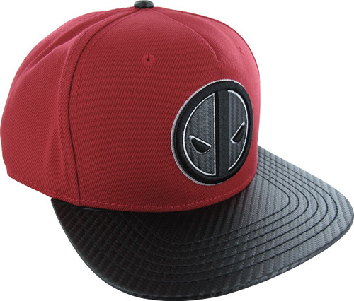 Deadpool Logo Carbon Snapback Hat