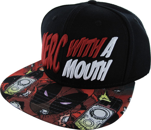 Deadpool Merc with a Mouth Sublimated Snap Hat
