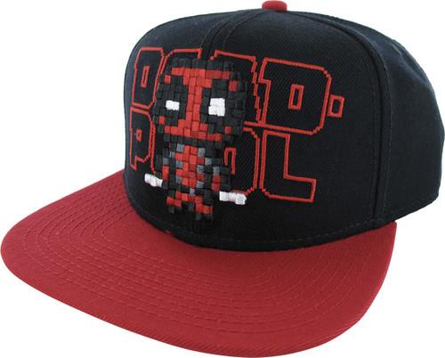 Deadpool Pixel Stitch Snapback Hat