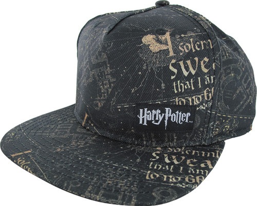 Harry Potter Solemnly Swear Sublimated Snap Hat