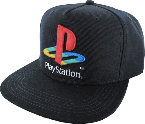 PlayStation Embroidered Color Logo Snapback Hat