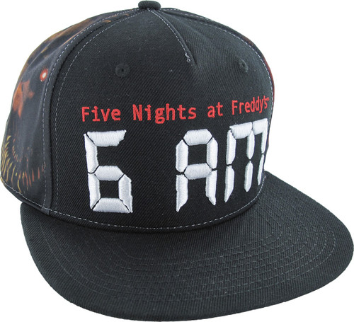 e8d0e548030 Five Nights at Freddy s 6 AM Sublimated Snap Hat
