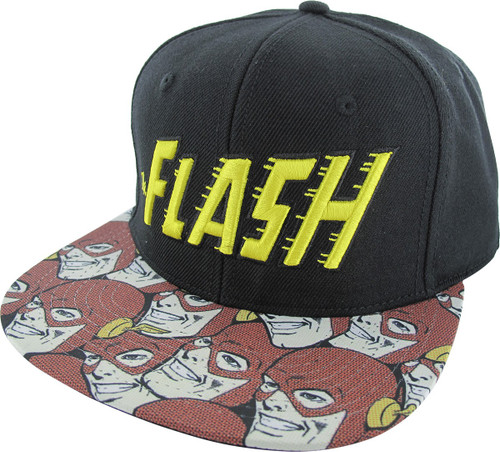 Flash Comic Sublimated Snapback Hat