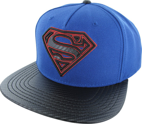 Superman Logo Carbon Snapback Hat