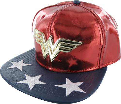 Wonder Woman Metal Logo Snapback Hat