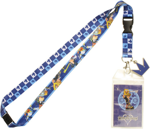 Kingdom Hearts Fight Pose Charm Lanyard