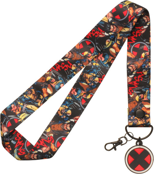 Wolverine Poses Logo Charm Wide Lanyard