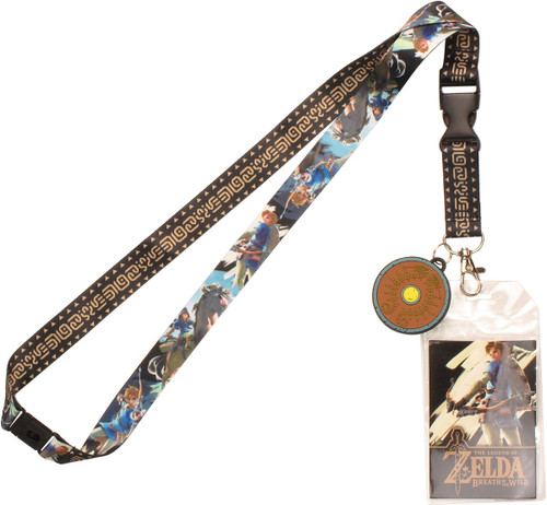 Zelda Shield Sword Charm Lanyard