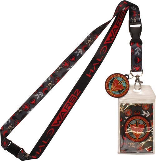 Halo Wars 2 Emblems All Over Charm Lanyard