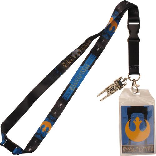 Star Wars Starfighter Metal Charm Lanyard