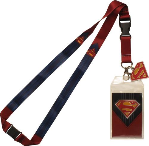 Superman Suit Up Metal Charm Lanyard