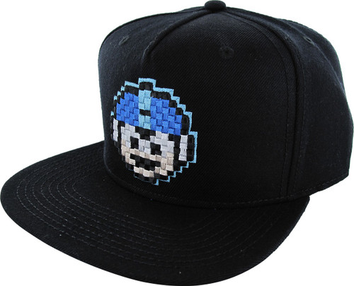Mega Man Pixel Face Snapback Hat
