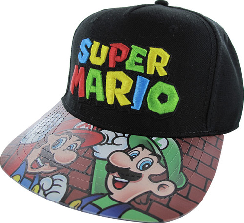 Super Mario Sublimated PVC Visor Velcro Hat
