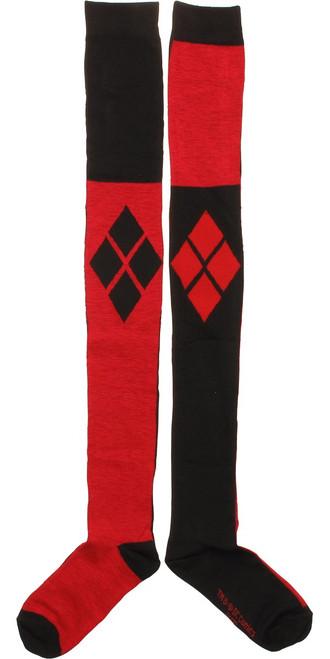 Harley Quinn Logo Over the Knee Socks