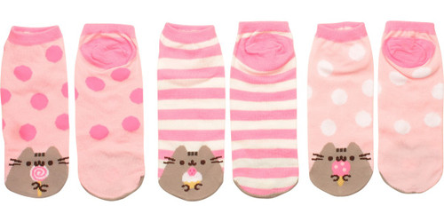 Pusheen the Cat Sweets 3 Pair Ankle Socks Set