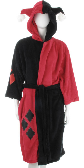 Harley Quinn Costume Ladies Fleece Robe