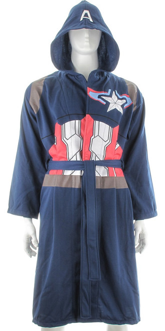 Captain America Avengers 2 Jersey Fleece Robe