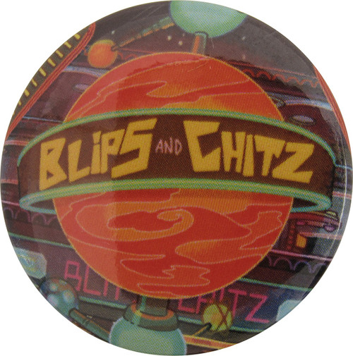 Rick and Morty Blips and Chitz Planet Button