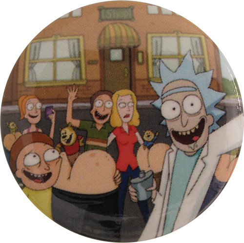 Rick and Morty Group Button