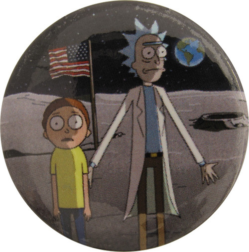 Rick and Morty Moon Landing Button