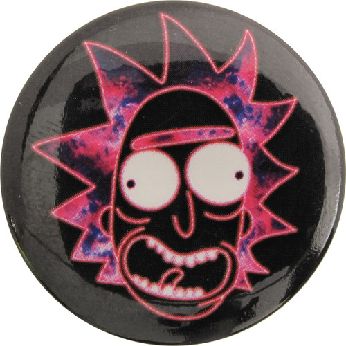 Rick and Morty Neon Rick Button