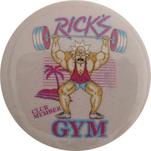 Rick and Morty Ricks Gym Club Member Button