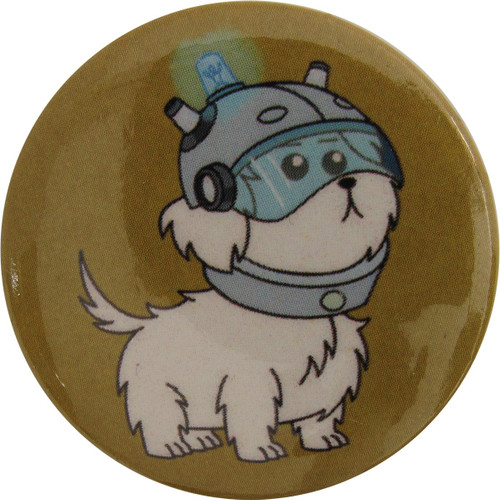 Rick and Morty Snuffles in Helmet Button