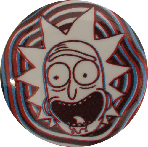 Rick and Morty White Out Rick Button