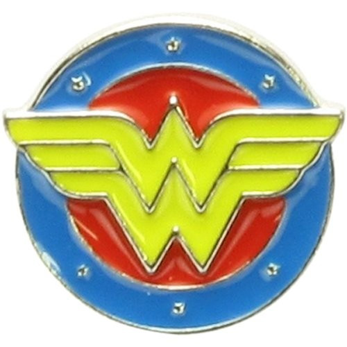 Wonder Woman Circle and Stars Classic Logo Pin