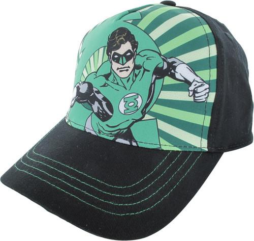 Green Lantern Pose Sublimated Snapback Youth Hat